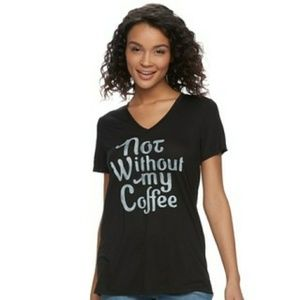 ⬇️$16 Not Without My Coffee Fifth Sun Graphic Tee